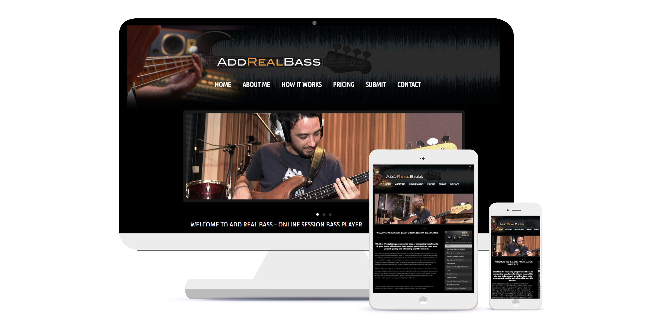 bass player website wordpress
