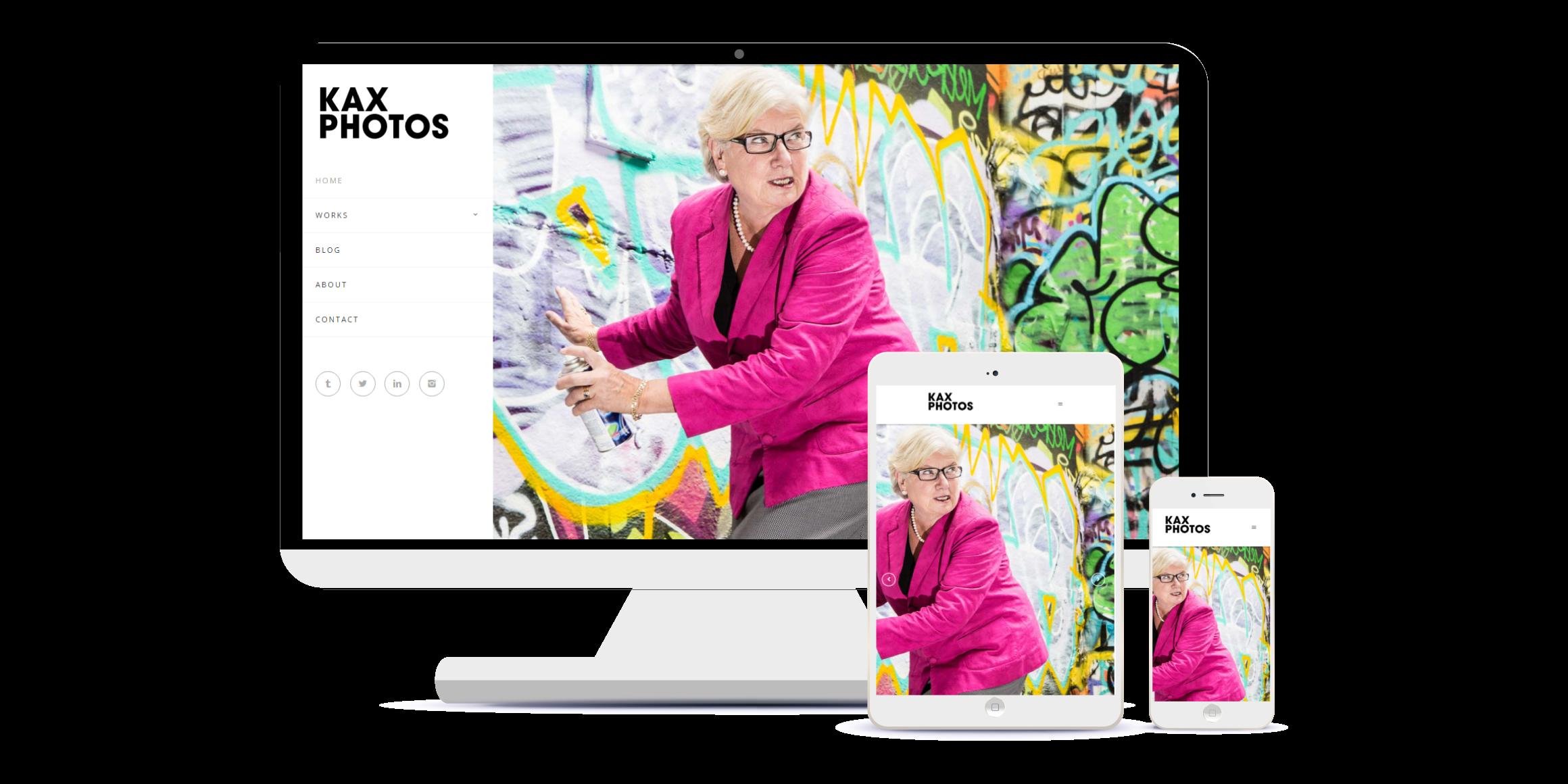 Wordpress based photography website